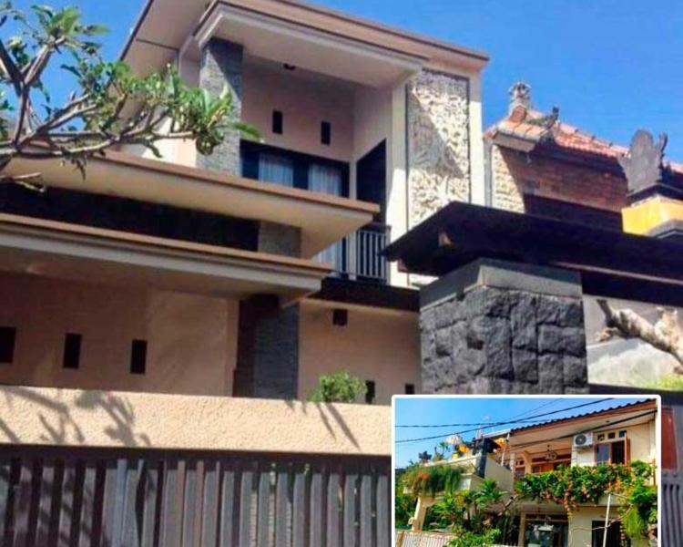 Rumah Minimalis Bali 2 Lantai Dengan Ornamen Ukiran yang Khas
