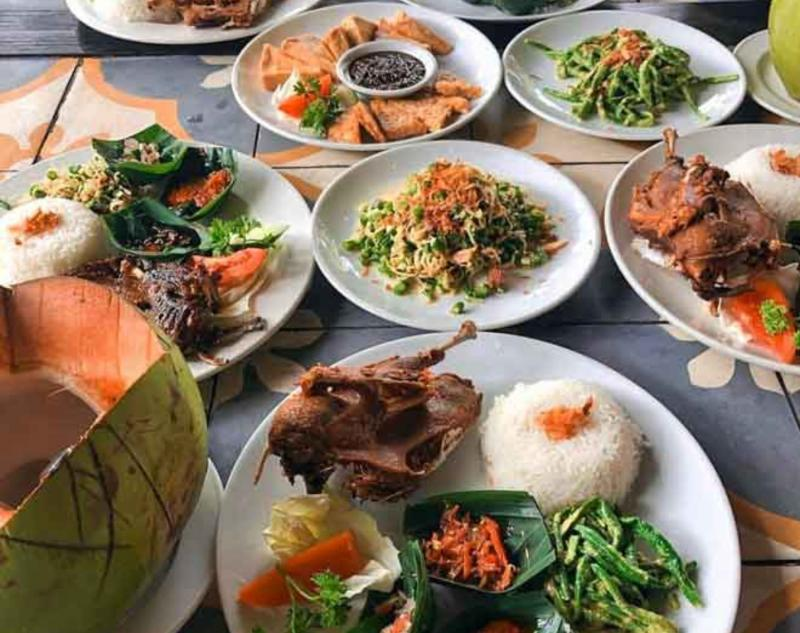 Balinese Cuisine at Bebek Tepi Sawah Restaurant