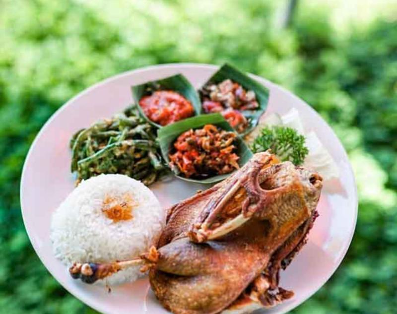 Crispy Duck at Bebek Tepi Sawah Restaurant