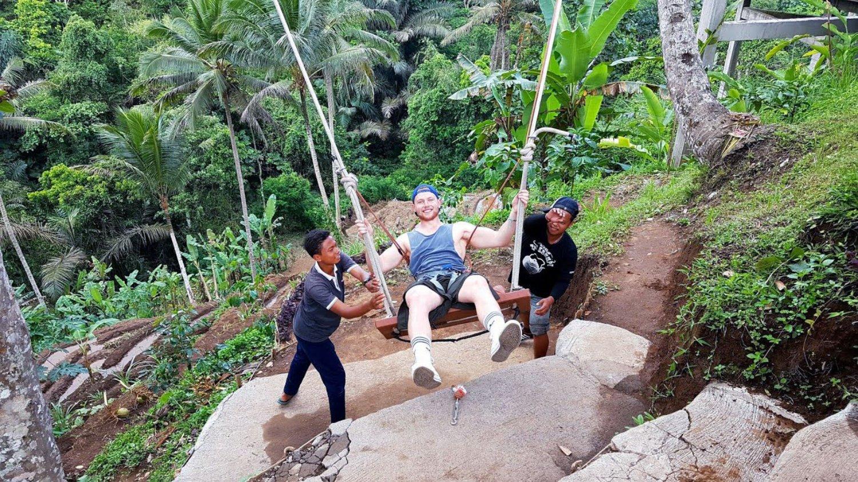 A Man is Trying Bali Swing
