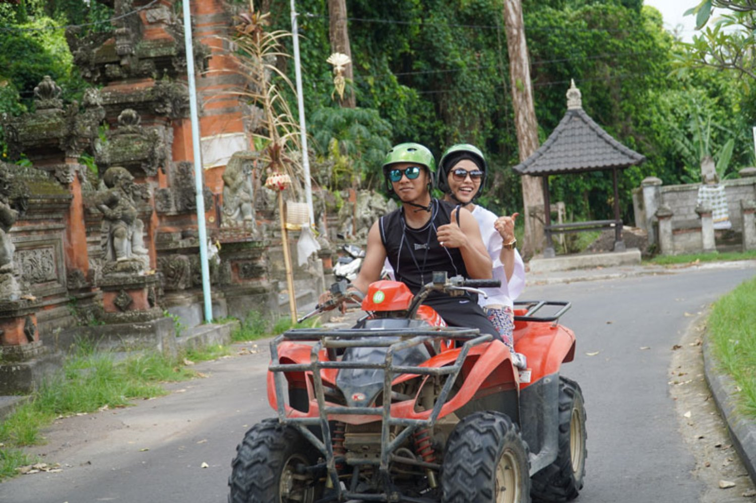 Riding ATV around Ubud Countryside