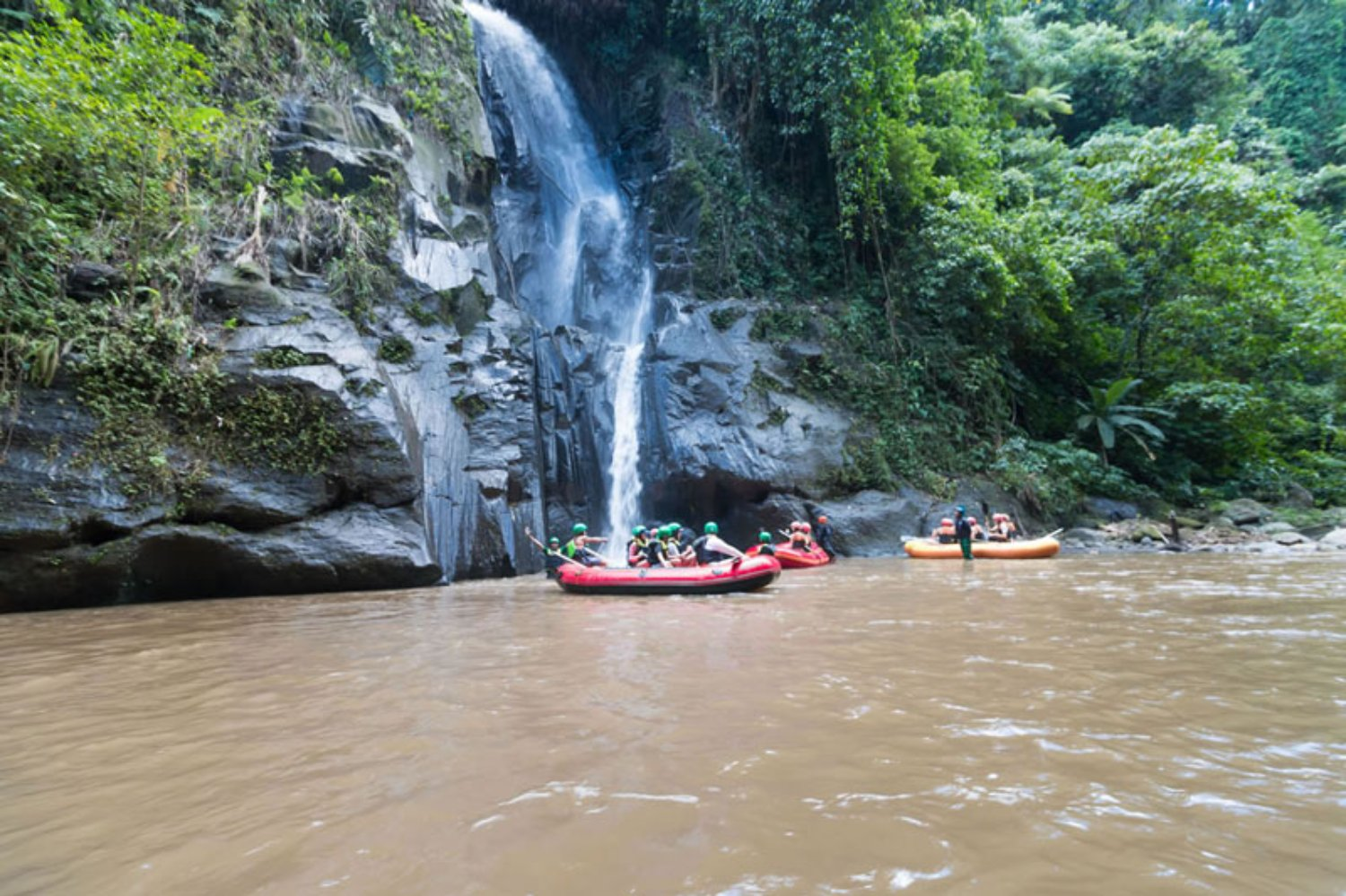 Waterfall at Ayung River Spot